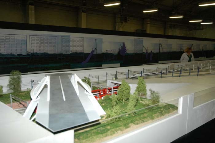 Pont de Calatrava Maqueta LAV Sagrera