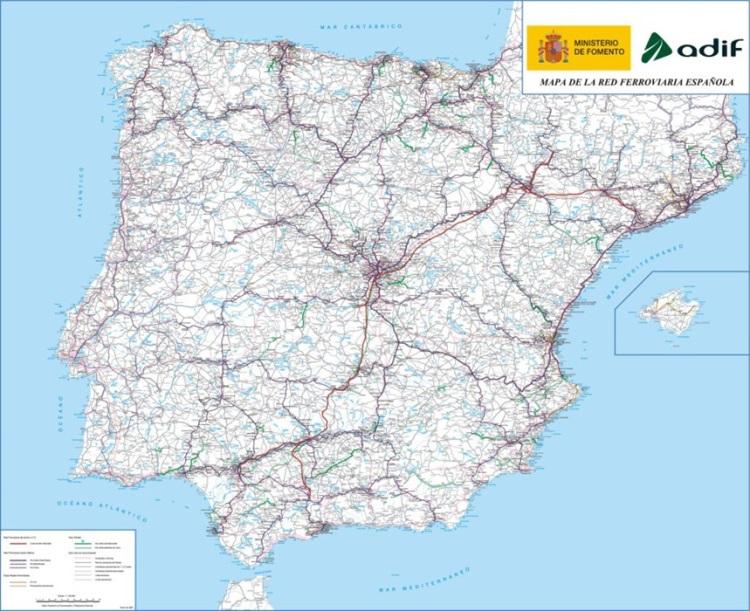 Mapa Ferroviario España 2017.La Cnmc Analiza La Declaracion Sobre La Red De Adif Y Adif
