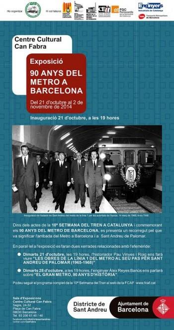 Aj. BCN 90 anys metro cartell