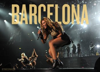 """Singer Beyonce performs on her """"Mrs. Carter Show World Tour 2013"""", on Wednesday, April 17, 2013 at the Arena Zagreb in Zagreb, Croatia. Beyonce is wearing a gold and black one-piece with skirt by designer David Koma. (Photo by Frank Micelotta/Invision for Parkwood Entertainment/AP Images."""
